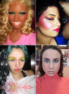 And here I thought makeup was suppose to make you look better. Silly me. I do like the top right one idk why Bad Makeup Fails, Makeup Jokes, Ugly Makeup, Worst Makeup, Makeup Pics, Epic Fail, Bad Eyebrows, Fill In Brows, Eye Makeup Remover