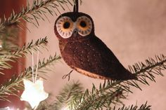 Northern Saw-whet owl ornament pattern from Downeast Thunder Farm.