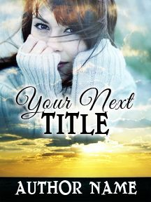 Woman & Sunset Beach - A Sweet Novel | Customizable Book Cover by RLSather | SelfPubBookCovers: One-of-a-kind premade book covers where Authors can instantly customize and download their covers, and where Artists can post a cover and name their own price.