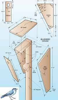 Over 50 Free Bird House and Bird Feeder Woodcraft Plans at AllCrafts.net