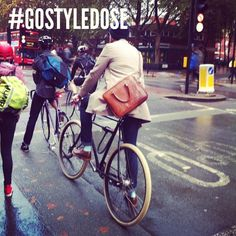 #GOSTYLEDOSE for your daily dose of london's stylish commuter cyclists. Goodordering.com