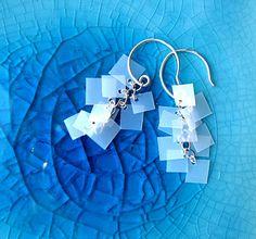 earrings made from recycled milk jugs. Rockin.
