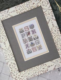 DRAWN THREAD Spring Jumble counted cross stitch patterns at thecottageneedle.com Easter Spring Mother's Day by thecottageneedle