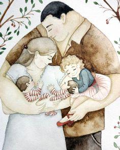 Bizdin arka suyer askar tauimiz InWaAllah✨ Positive Kunst, Positive Art, Art And Illustration, Illustrations, Adult Children Quotes, Art Children, Family Sketch, Couple Drawings, Illustrators On Instagram