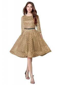 Causal Wear Readymade Chickoo Western Wear Dress - D-33