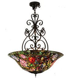 tiffany stained glass light fixture   Stained Glass Lighting, Lamps, Pendant Lights, Island Lights, Sconces ...