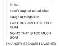 Image result for i will buy america for 2 goat
