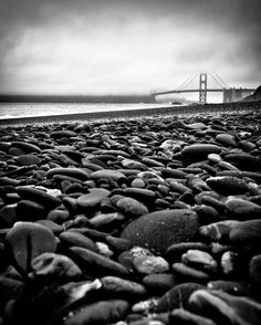 Golden Gate Bridge in the Fog - San Francisco, California - Landscape - Black and White - 8x10 to 24x36 - Art Prints Ready to Frame and Hang