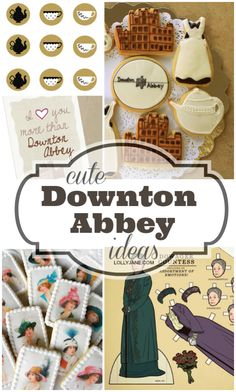 Cute Downton Abbey party ideas!