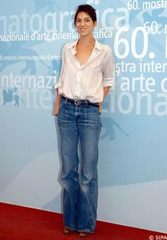 Charlotte Gainsbourg....these jeans are amazing!
