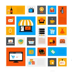 A collection-of-colorful-flat-icons by Ashlesha