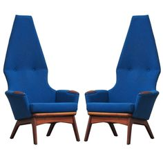 Original Adrian Pearsall Highback Chairs | From a unique collection of antique and modern lounge chairs at http://www.1stdibs.com/furniture/seating/lounge-chairs/