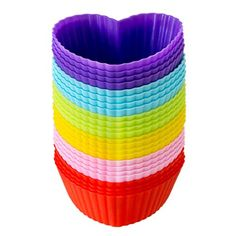 LAVAVIDA Silicone Cupcake Liners 24 Pack 6 Colors Baking cups Resuable and Nonstick Muffin Holder Standard Size Cake Molds ** Read more reviews of the product by visiting the link on the image.