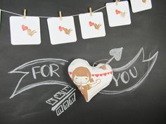 Favor Heart for boys and girls. Gift Favor Valentines by ViolaStudio