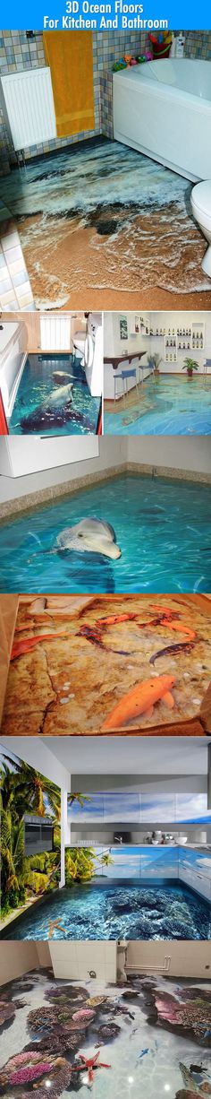 3D Floors That Can Magically Turn Your Bathroom And Kitchen Into Ocean. | Funny pictures and Awesome photos