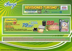 Oferta Primavera 2014 - Revisión Aurgi Completa (cambio del filtro de aceite, filtro de aire y filtro de habitáculo). Más información en www.aurgi.com/