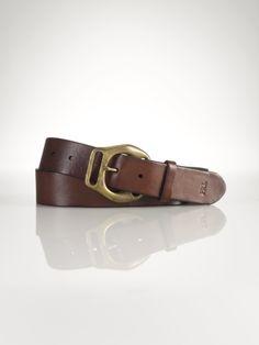 Rugged Leather Belt - Belts   Men - RalphLauren.com