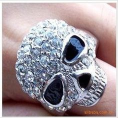 R048  HOT Fashion New 2017  Full Simulated  Cute Skull Ring Jewelry Accessory wholesales #Affiliate