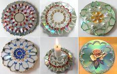 Красивыми получаются так называемые цветы из cd дисков