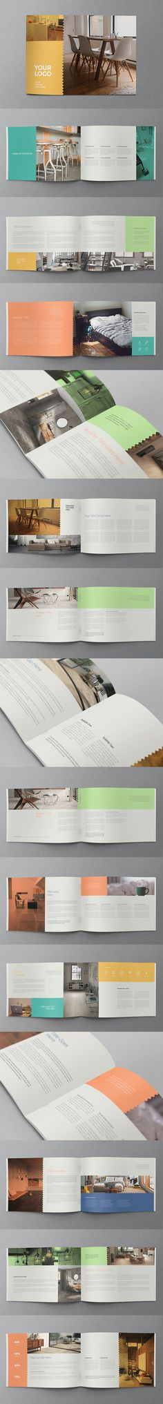 Clean Colorful Brochure. Download here: http://graphicriver.net/item/clean-colorful-brochure/11770727?ref=abradesign #brochure #design