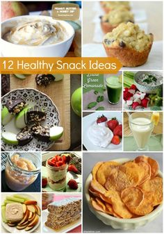 12 Healthy Snack ideas perfect for New Year's resolutions.    via  http://pinterest.com/pin/41587996533030365/