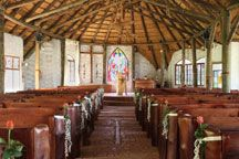 Steeped in luscious rolling hills, Old Balgowan offers a wedding venue in the charm of a vintage french barn with a stained glass, thatched roof chapel