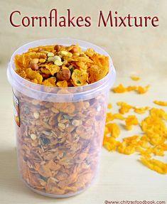 Easy,low fat cornflakes mixture recipe in microwave/Spicy chivda recipe Sambhar Recipe, Chaat Recipe, Jain Recipes, Indian Food Recipes, Gujarati Recipes, Hot Snacks, Healthy Snacks, Snacks Recipes, Cooking Recipes