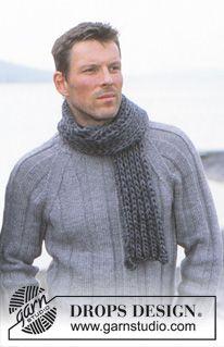 Men - Free knitting patterns and crochet patterns by DROPS Design Drops Design, Baby Knitting Patterns, Knitting Designs, Cable Knitting, Free Knitting, Knitting Sweaters, Crochet Mittens, Knitted Gloves, Crochet Girls Dress Pattern
