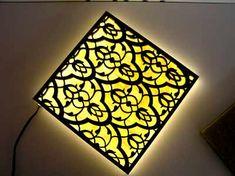 Backlit Honey Onyx Stone with Wood Screen