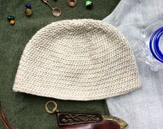 Grey Nalbinding Hat Viking Norse Anglo Saxon by BoneandBirchNW