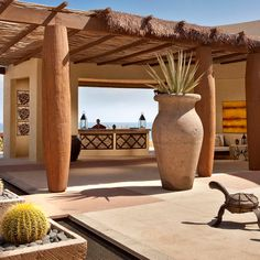 Ellie Sojourn April/May Issue Beautiful registration desk at Capella Pedregal Resort, Cabo San Lucas, Mexico