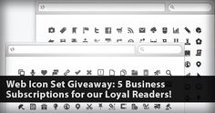 Are you designing a website, or planning on a redesign? That's a tough job, so why not lighten it with the help of Web Icon Set?Today we're having another explosive giveaway sponsored by Web Icon Set!    Five of our lucky readers will have the chance to win 1 of 5 Business Subscriptions worth $99 each. But that's not all, winners can access all existing icons and upcoming ones for THREE YEARS!