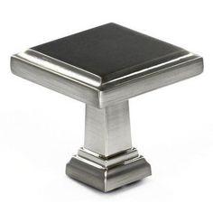 Richelieu Square Knob Finish: Brushed Nickel