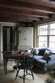 simple rustic living room