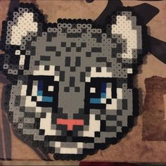 Snow Leopard Made from perler beads Other