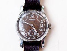 watch wrist unisex Soviet USSR Pobeda  Rocket by SovietWatches