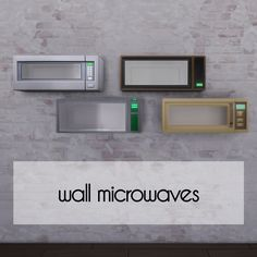 Wall Microwaves - The Sims 4 Catalog The Sims 4 Pc, Sims 4 Mm Cc, Sims Four, Sims 4 Game Mods, Sims Games, Sims 4 Mods, Sims Baby, Sims 4 Toddler, Muebles Sims 4 Cc