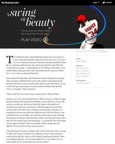 Bryce Harper: A swing of beauty Ken Adams, News Website Design, Bryce Harper, The Twenties, Washington, Web Design, Beauty, Design Web, Site Design