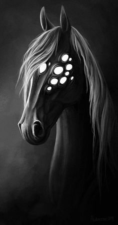 Don't try to hide from white eyes by Alaiaorax on DeviantArt - - Mythical Creatures Art, Weird Creatures, Magical Creatures, Monster Eyes, Monster Art, Creature Drawings, Horse Drawings, Evil Unicorn, Scary Eyes
