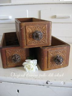 Vintage Hardware Drawers  Wooden Drawers  by SweetMagnoliasFarm, $18.50