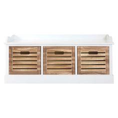 Portsmouth Drawer Chest Natural Drawer / White Frame Paulownia Wood/MDF