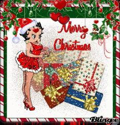 Animated Betty Boop Screensavers xmas time | Merry Christmas Betty Boop! Picture #103167842 | Blingee.com