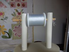 A smarty DIY to keep thread rolling smoothly off the spool!