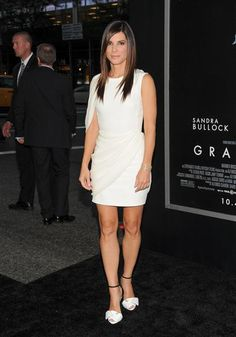"""Sandra Bullock attends the premiere of """"Gravity"""" at the AMC Lincoln Square Theaters in New York on Oct. 1, 2013."""