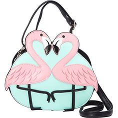 Ashley M Pink Flamingo Love Shoulder Crossbody Bag (Black) Ashley M http://www.amazon.com/dp/B00VQR7FOU/ref=cm_sw_r_pi_dp_G4jIvb01GEF5N