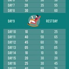 30 Day Abs and Squats Challenge | Visual.ly