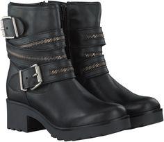 Zwarte PS Poelman Korte laarzen R14430