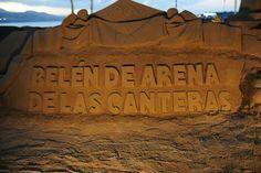 Belen en arena, Playa de las Canteras, Las Palmas de Gran Canaria.