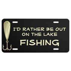 Funny fishing spoon lure angler happy birthday card for Idaho out of state fishing license
