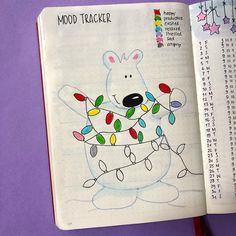 I love how my mood tracker looks!!!  I had 1-2 bad days, but all in all a very good month!  How has December treated you so far? #moodtracker #bulletjournaltracker #decembertracker #bulletjournalmoodtracker